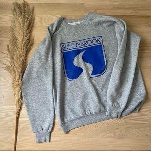 Vintage Grey Sunny Brook Crewneck Sweatshirt   XL
